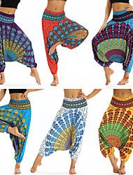 abordables -Femme Pantalon de yoga Sarouel Bouffant Imprimé Améthyste Vert / jaune. Blanche Orange Bleu Danse Fitness Entraînement de gym Culotte Bouffante Sport Tenues de Sport Poids Léger Respirable Séchage