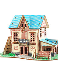 cheap -3D Puzzle Jigsaw Puzzle Wooden Puzzle Famous buildings House Wooden Natural Wood Unisex Boys' Girls' Toy Gift