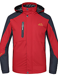 cheap -Deshengren® Men's Hiking Jacket Hiking 3-in-1 Jackets Outdoor Winter Waterproof Thermal / Warm Windproof Breathable Winter Jacket Top Skiing Camping / Hiking Hunting Red / Green / Blue Camping