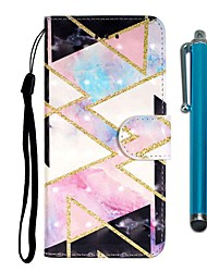 cheap -Case For Samsung Galaxy S10 / S10 Plus / S10 E Wallet / Card Holder / with Stand Diamond-Shaped Grid PU Leather / TPU for A10s / A20s / A50(2019) / A70(2019) / A90(2019) / Note 10 Pro / A51