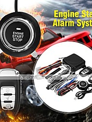 cheap -9Pcs/Set Car SUV Keyless Entry Push Start System Engine Start Button Alarm System Push Button Remote Starter Stop Auto for Volkswagen Audi