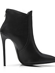 cheap -Women's Boots Stiletto Heel Pointed Toe PU Booties / Ankle Boots Fall & Winter Black / Gray / Khaki