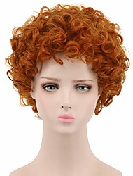 cheap -Synthetic Wig Curly Pixie Cut Wig Short Red Synthetic Hair 8 inch Women's Synthetic Red