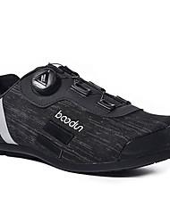 cheap -BOODUN Adults' Bike Shoes Road Bike Shoes Breathable Anti-Slip Mountain Bike MTB Road Cycling Cycling / Bike Black Men's Women's Cycling Shoes