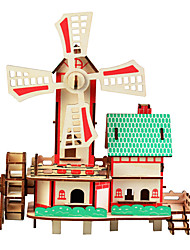 cheap -Wooden Puzzle Famous buildings Chinese Architecture House Professional Level Wood 1 pcs Boys' Girls' Toy Gift
