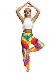 cheap -Women's Dancer Yoga Meditation Masquerade Boho Exotic Dancewear Polyster Purple Yellow Light Purple Pants