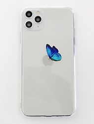 cheap -Case For Apple iPhone 11 / iPhone 11 Pro / iPhone 11 Pro Max Shockproof Back Cover Butterfly / Transparent TPU