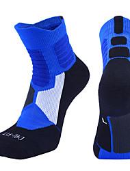 cheap -Compression Socks Athletic Sports Socks Running Socks 1 Pair Women's Men's Tube Socks Socks Breathable Sweat wicking Comfortable Running Active Training Jogging Sports Multi Color Cotton White Black