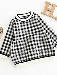 cheap -Baby Girls' Basic Color Block / Check Long Sleeve Dress Black