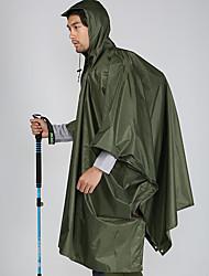 cheap -Men's Women's Hiking Raincoat Outdoor Camo Multifunctional Waterproof Portable Lightweight 3-in-1 Jacket Poncho Waterproof Camping / Hiking Hunting Climbing Camouflage / Hunter Green / Windproof