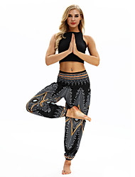 cheap -Women's Dancer Yoga Meditation Masquerade Boho Exotic Dancewear Polyster Blue Black Pants Necklace