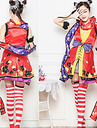 cheap -Sweet Lolita Princess Lolita Dress JSK / Jumper Skirt Female Japanese Cosplay Costumes Red Color Block Sleeveless Above Knee