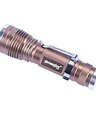 Недорогие -Открытый Skywolfeye мини телескопический зум светодиодный блик фонарик из алюминиевого сплава