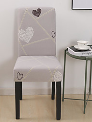 cheap -Heart Chair Cover Stretch Removable Washable Dining Room Chair Protector Slipcovers Home Decor Dining Room Seat Cover