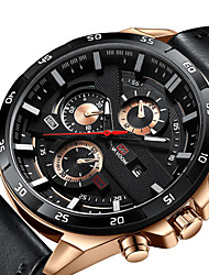 cheap -Men's Dress Watch Quartz Formal Style Modern Style Stainless Steel Black 30 m Water Resistant / Waterproof Calendar / date / day Digital Casual Outdoor - Brown black / gold Black / Silver Two Years