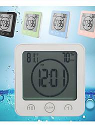 Недорогие -Водонепроницаемый жк-цифровой настенные часы душ всасывания настенный стенд будильник таймер температура влажность ванна метеостанция для дома