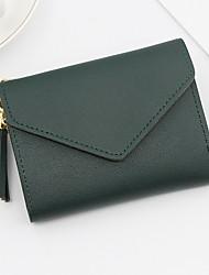 cheap -Women's PU Wallet Solid Color Black / Blushing Pink / Fuchsia