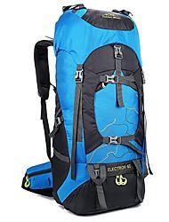 cheap -60 L Hiking Backpack Rucksack Multifunctional Waterproof Rain Waterproof Moistureproof Outdoor Camping / Hiking Hunting Climbing Oxford Black Blushing Pink Green