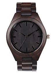 cheap -Men's Sport Watch Japanese Quartz Wood Black No Chronograph Cute Creative Analog New Arrival Fashion - Black Two Years Battery Life
