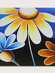 cheap -Oil Painting Hand Painted - Still Life Floral / Botanical Modern Rolled Canvas