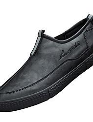 cheap -Men's Comfort Shoes PU Fall & Winter Loafers & Slip-Ons Black / Dark Grey / Black / White