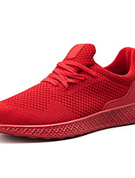 cheap -Men's Comfort Shoes Mesh Fall & Winter Athletic Shoes Running Shoes Black / Red / Gray