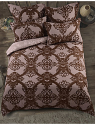 cheap -Duvet Cover Sets Damask Polyester / Polyamide Printed 4 PieceBedding Sets