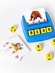 cheap -Educational Flash Card Educational Toy Matching Letter Game Picture Word Matching Game Educational Learning Games Letter Spelling Letter Reading Game Improve Memory ABS Resin Kid's Preschool Cute