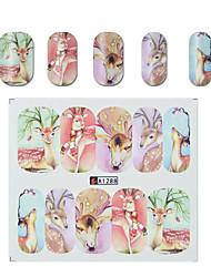 Недорогие -смешанные наклейки для ногтей наклейки наборы для переноса воды 50 листов различных конструкций сова кошка бабочка полный diy советы очарование для украшения искусства ногтя