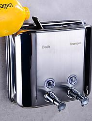 cheap -Toilet Soap Dispenser Double Head Stainless Steel Hotel Villa Bathroom Shower Liquid Separator Wall Mount
