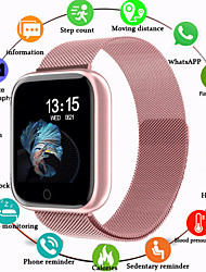 cheap -Smartwatch Digital Luxury Water Resistant / Waterproof Digital Rose Gold Black / Silver Black / Black / Silicone / Heart Rate Monitor