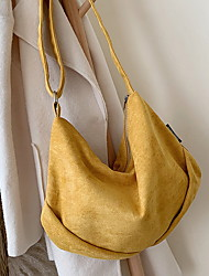 cheap -Women's Bags Canvas Crossbody Bag Zipper Solid Color Canvas Bag Daily Black Yellow Green Brown