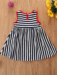 cheap -Baby Girls' Basic Striped Sleeveless Dress Black