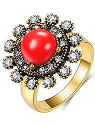 cheap -Women's Band Ring 1pc Gold-Red Green Blue Alloy irregular Elegant Trendy Gift Daily Jewelry Happy Cool
