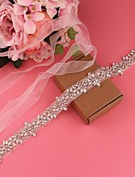 cheap -Satin Wedding / Party / Evening Sash With Belt / Crystals / Rhinestones Women's Sashes