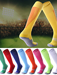 cheap -Compression Socks Athletic Sports Socks Running Socks 1 Pair Tube Socks Socks Compression Socks Breathable Sweat wicking Comfortable Running Active Training Jogging Sports Color Block Polyester Pearl