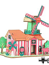 cheap -Model Building Kit Wooden Model DIY Famous buildings House Plastics Wooden Unisex Girls' Toy Gift