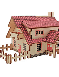 cheap -3D Puzzle Jigsaw Puzzle Model Building Kit House Fun Wood 1 pcs Classic Kid's Toy Gift