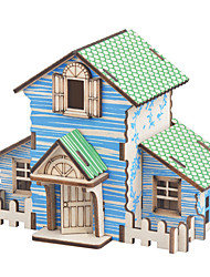 cheap -3D Puzzle Wooden Puzzle Model Building Kit Houses Fashion House DIY Wooden 1 pcs Classic Modern Contemporary Fashion Kid's Adults' Boys' Girls' Toy Gift