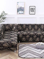 cheap -Flower Color Dustproof Stretch Slipcovers Stretch Sofa Cover Super Soft Fabric Couch Cover (You will Get 1 Throw Pillow Case as free Gift)