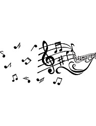 cheap -Creative Musical Notes Decorative Wall Stickers - Plane Wall Stickers Characters / Shapes Study Room / Office / Indoor