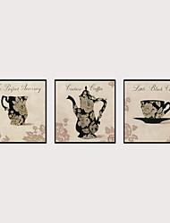 Недорогие -Отпечаток в раме Набор в раме - Натюрморт Продукты питания Полистирен Иллюстрации Предметы искусства