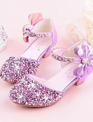cheap -Girls' Tiny Heels for Teens Synthetics Heels Little Kids(4-7ys) / Big Kids(7years +) Crystal Purple / Pink / Silver Summer