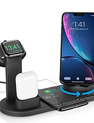 cheap -3-in-1 Wireless Charger Apple Air pods Charger Apple Watch Stand Multiple Device Wireless Charging Station for iPhone 12 Pro Max Xr Xs Max Samsung S21 Plus S20 Ultra Huawei Xiaomi VIVO OPPO Oneplus