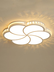 cheap -1-Light Modern 6 - Petal LED Ceiling Lamp Stylish Flower - Shaped Ceiling Lamp Bedroom Lamp