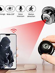 cheap -SDETER HD 1080P Wireless Mini WiFi Camera Home Security Lighting Camera IP CCTV Surveillance Camera IR Night Vision Two Way Audio Motion Detect Baby Monitor P2P Small Camera