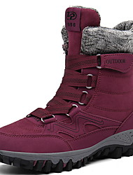 cheap -Men's Comfort Shoes Suede Fall & Winter Boots Booties / Ankle Boots Black and White / Purple / Fuchsia