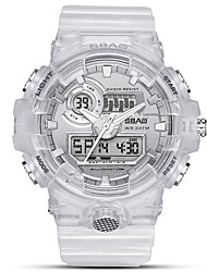 cheap -Men's Sport Watch Automatic self-winding Sporty Stylish White 30 m Calendar / date / day Luminous Alarm Clock Analog - Digital Outdoor Fashion - Black Golden+White Rose Gold One Year Battery Life