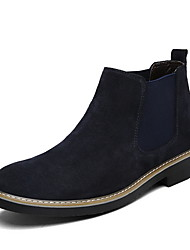 cheap -Men's Comfort Shoes Suede Fall & Winter Boots Booties / Ankle Boots Black / Dark Blue / Gray