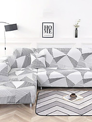 cheap -Geometric Stripes Print Dustproof Stretch Slipcovers Stretch Sofa Cover Super Soft Fabric Couch Cover(You will Get 1 Throw Pillow Case as free Gift)